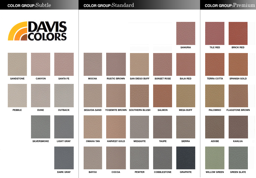 Davis Colors Concrete Brochure Terra Ferma Landscapes