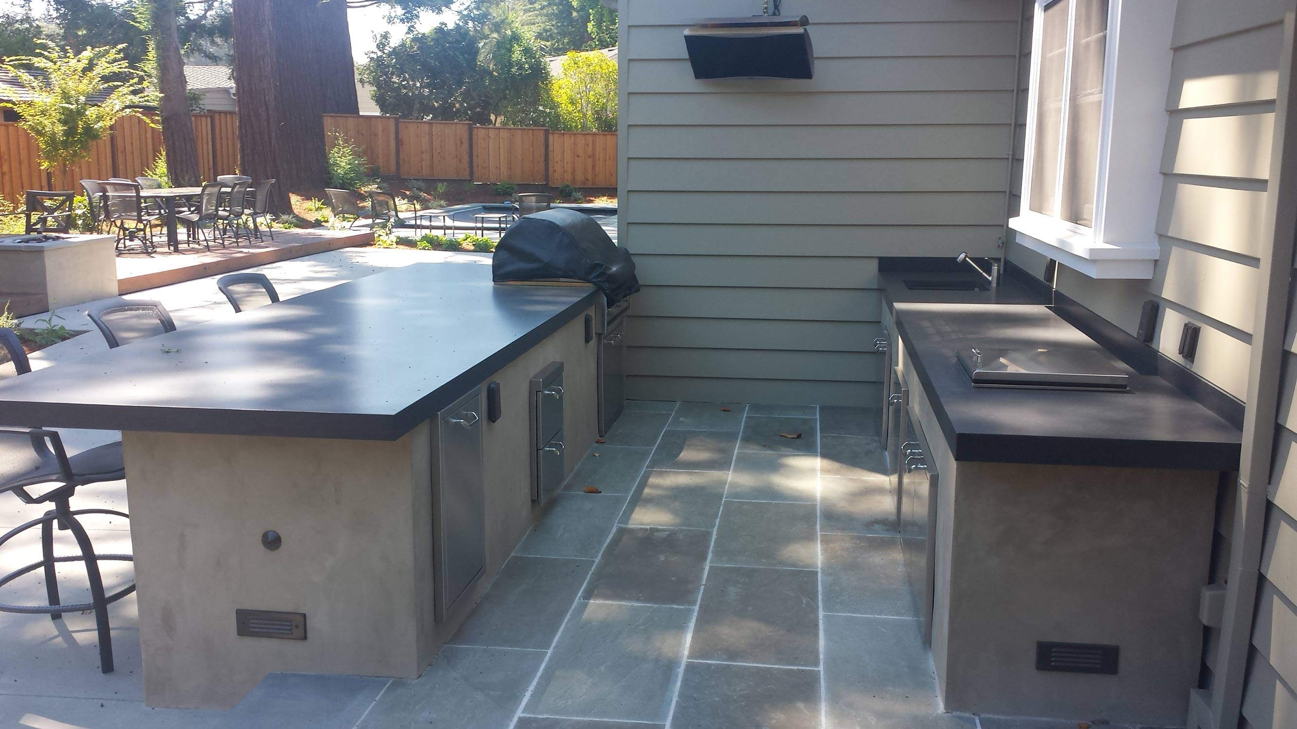 Hillsborough Design Build Outdoor Kitchen Terra Ferma Landscapes
